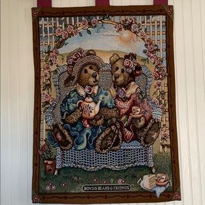 Boyds Bear & Friends Tapestry Wall Hanging